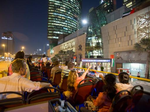 Dubai City Sightseeing Hop-On Hop-Off Bus Tour with Free Dhow Cruise