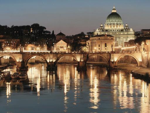 Illuminated Rome by Night