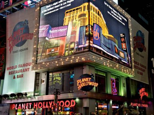 Planet Hollywood New York Meal Ticket