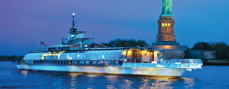 Free Window Seat Upgrade with Bateaux New York Dinner Cruise