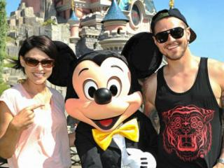 Emma and Matt Willis at Disneyland Paris