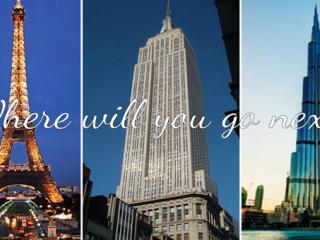 Dubai, Paris, New York