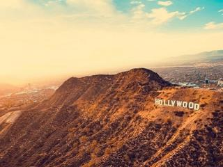 Hollywood Hills in California photograph