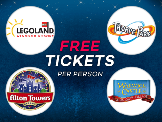 Enjoy FREE UK Theme Park Tickets on Us!