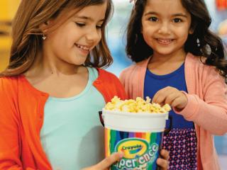 FREE Crayola Popcorn Bucket
