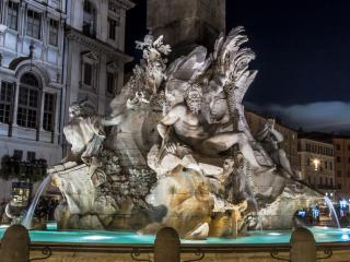 Illuminated Rome by Night Rome takes on a special personality in the evening