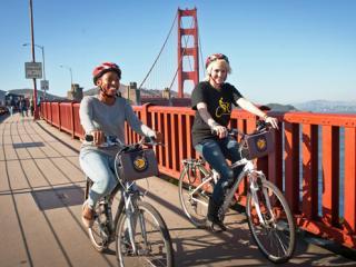 Bike the Bay over the Golden Gate Bridge to Sausalito