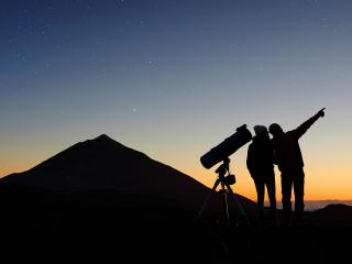 Sunset and Stars on Mount Teide with Transportation