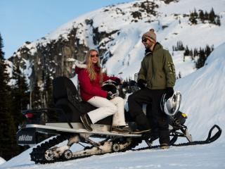 Snowmobiling from Whistler Village