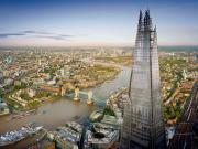 Views from the top of the Shard stretch out over 40 miles