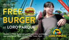 ATD EXCLUSIVE - Free Burger with every Loro Parque Ticket