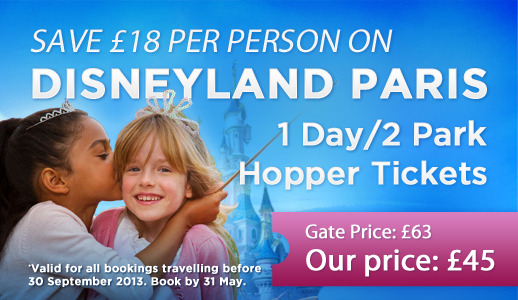 Summer Savings on the 1-Day/2 Parks Disneyland Paris Ticket!