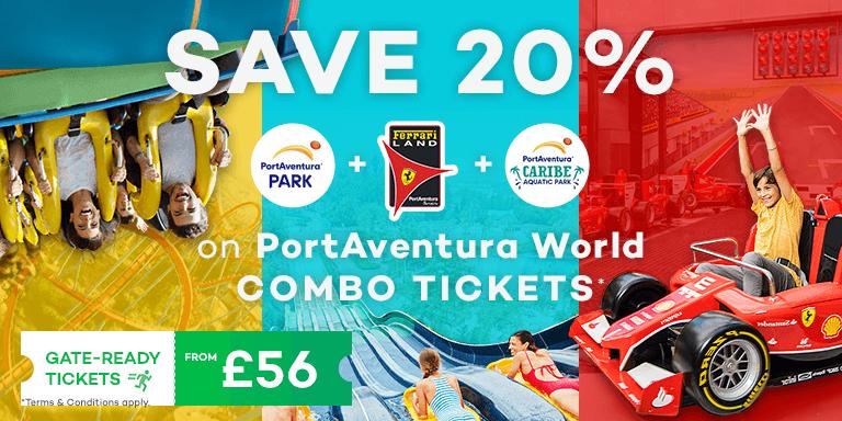 SAVE up to 20% at PortAventura World
