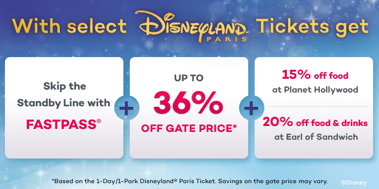 Save up to 36% Off the Gate Price at Disneyland Paris