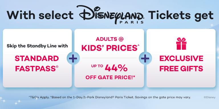 Save up to 44% Off the Gate Price at Disneyland Paris