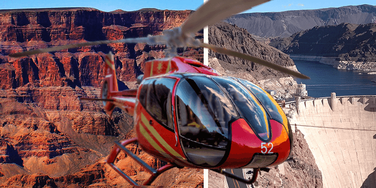Helicopter flights with landing in the Grand Canyon from £272 per person