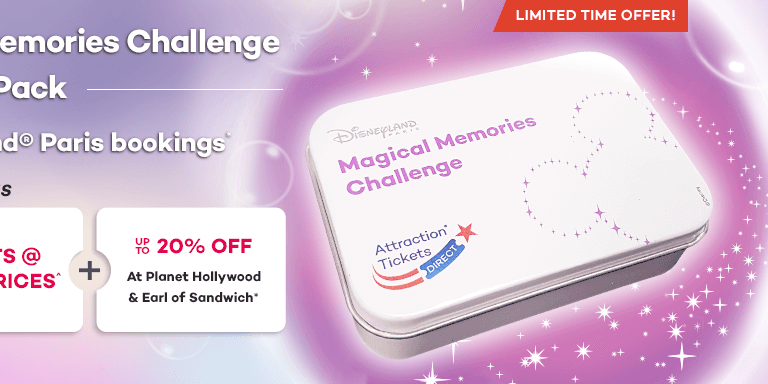 Exclusive ATD Magical Memories Challenge Card Pack With Disneyland Paris Multi-P
