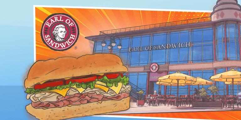 Exclusive 15% discount at Earl of Sandwich Disneyland® Paris