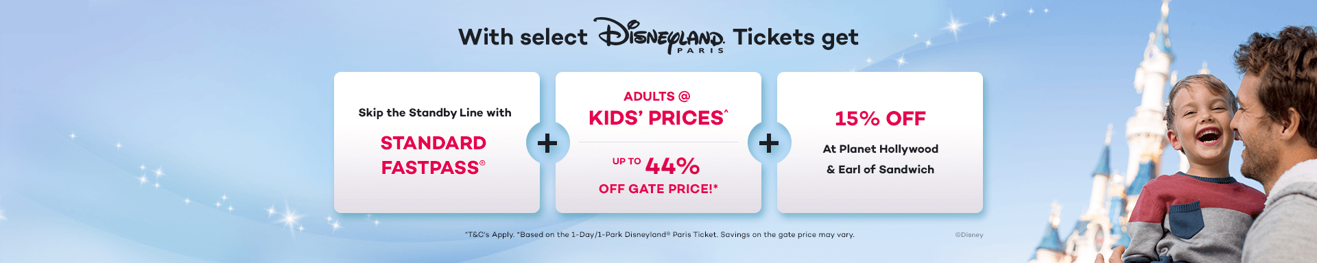 2aebe911daaf4 Save up to 44% Off the Gate Price at Disneyland Paris