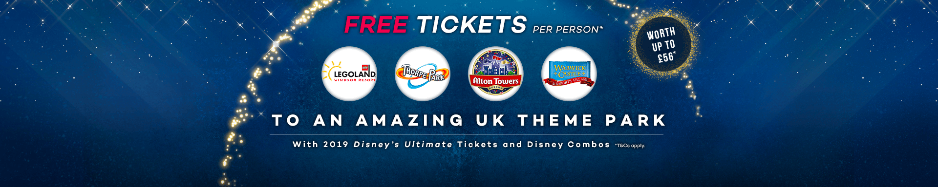 Enjoy FREE UK Theme Park Tickets on Us!  logo