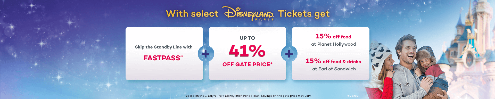 Save up to 41% Off the Gate Price at Disneyland Paris