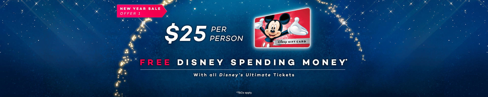 25 disney spending money per person