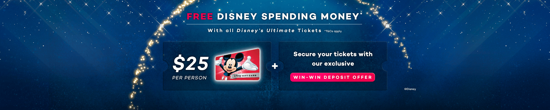 $25 Disney Spending Money Per Person