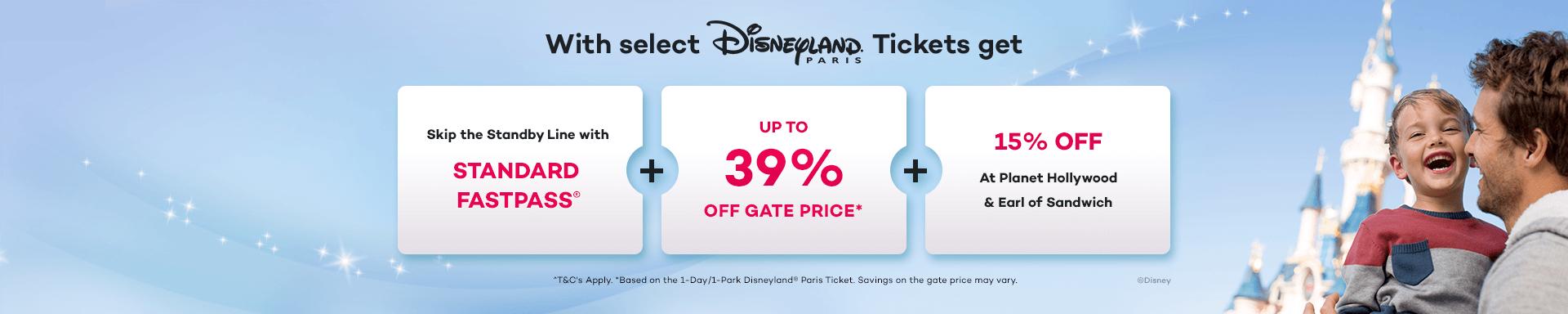 Save up to 39% Off the Gate Price at Disneyland Paris