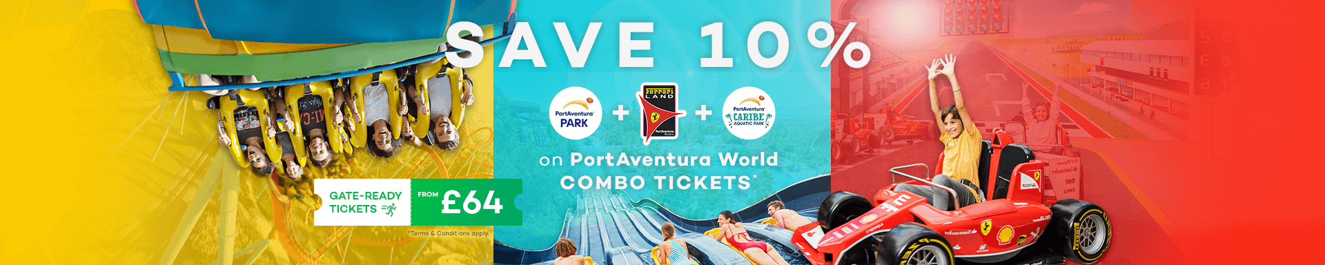 SAVE 10% at PortAventura World logo