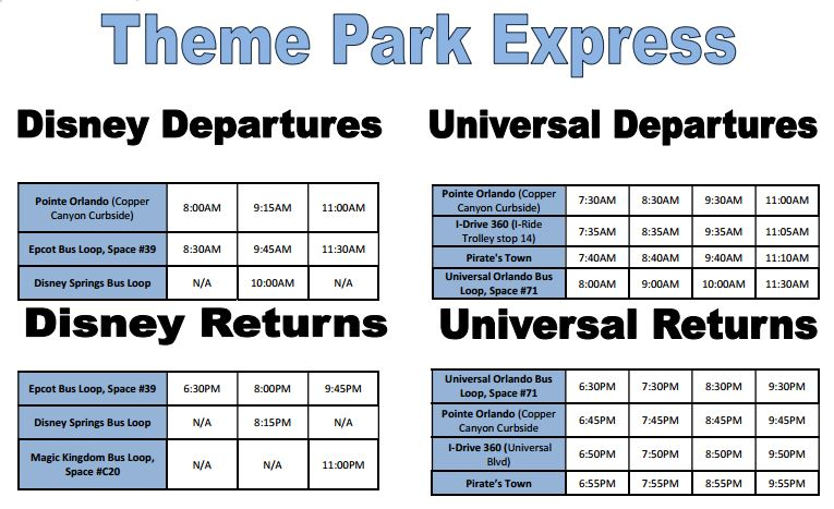 Theme Park Shuttle Express
